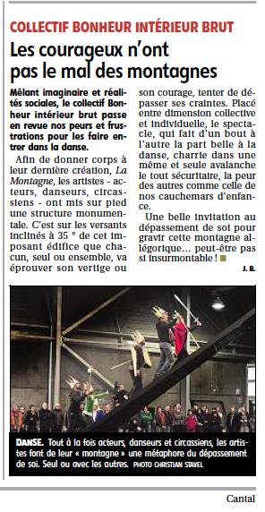 Journal LA MONTAGNE 21/08/13